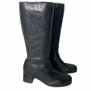 Naturalizer Soft Black Tall Leather Heeled Boot